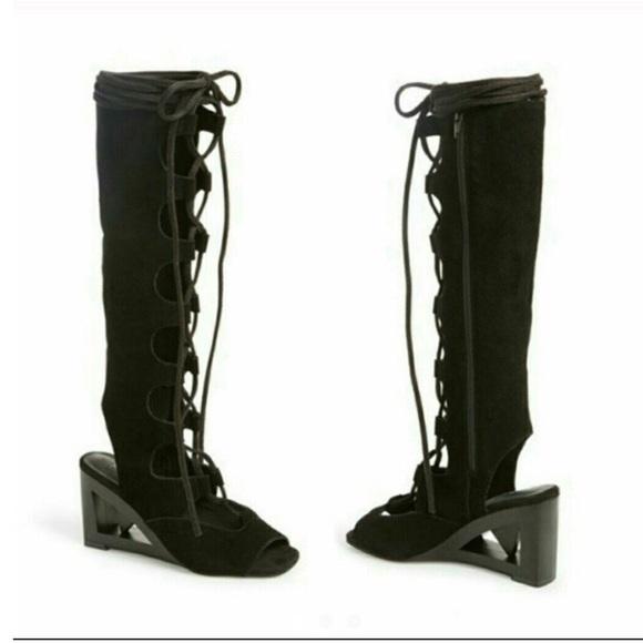 d1518416929c Jeffrey Campbell sanita leather gladiator sandals